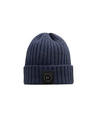 e8994206078 Marshall Artist Micro Siren Beanie Hat in Navy Blue - Made in England 100%  Wool