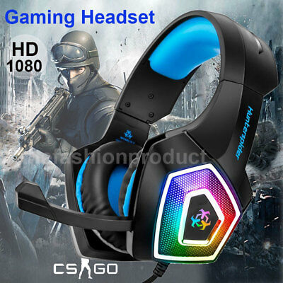 Universal Gaming-Headset Over Ear Kopfhörer+Mic Stereo Bass für PS3 PS4 Xbox One