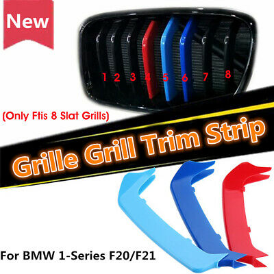 3X M Sport Kidney Grill Grille Strip Cover Clip For BMW 1 Series F20 F21 2012-14