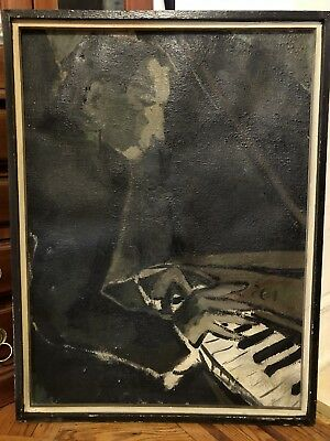 Vintage Abstract Virtuoso Oil Painting Signed WI 58
