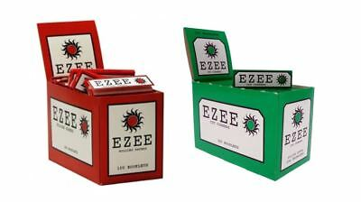 EZEE Green & Red Rolling Cigarette Papers Regular/Std Size Multiple Variations