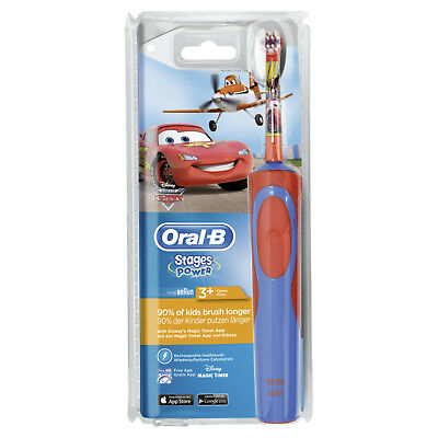 Oral-B Stages Power Disney Cars Kids Childs Rechargeable Electric Toothbrush