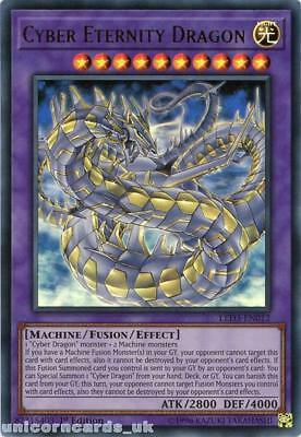LED3-EN012 Cyber Eternity Dragon Ultra Rare 1st Edition Mint YuGiOh Card