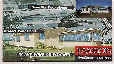 1966Mid Century Modern Fashion Sundown Awnings Brochure Mobile Home Dairy Queen