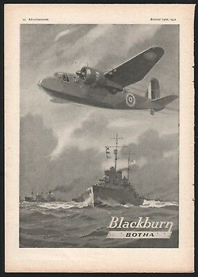 1941 WWII Blackburn Botha RAF British Bomber UK Aircraft Aviation War Plane AD