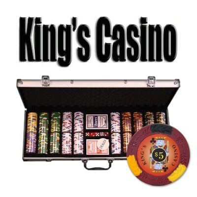 500ct. King's Casino 14g Poker Chip Set in Aluminum Metal Carry Case