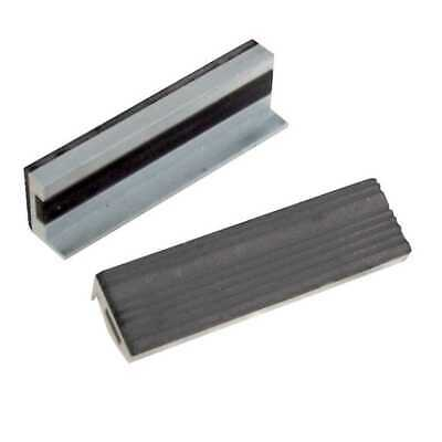 Silverline Rubber Magnetic Soft Vice Jaw jaws Grips 100mm Protectors - 273221