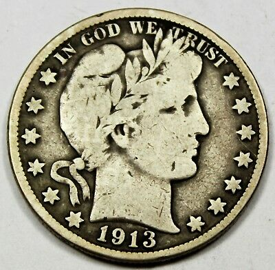 1913-S United States Barber Half Dollar - VG Very Good Condition
