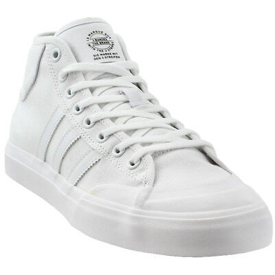 save off e57be 3b630 adidas Matchcourt Mid Skate Shoes - White - Mens