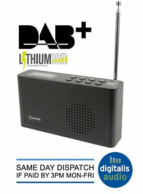 AV Link DAB+ DAB FM Digital Portable Radio with Lithium Rechargeable Battery