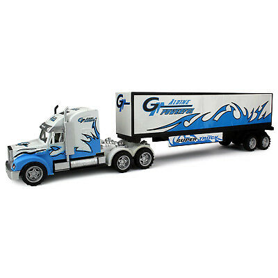Velocity Toys Power Freight Trailer Friction Toy Truck Ready To Run No Batteries