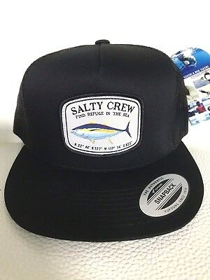 check out b6f3c e38b6 NEW SALTY CREW PACIFIC TRUCKER SNAPBACK 1 SIZE CAP HAT Black Z7
