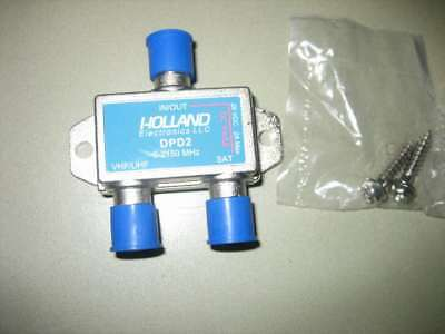 HOLLAND DPD2 - 2 way splitter - 5-2150 mhz-28 VDC - 2A MAX - UHF/VHF TO SAT