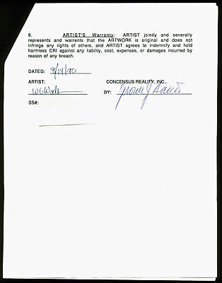 Jerry Garcia Signed 3 Page Grateful Dead Merchandising Agreement PSA #AA01915