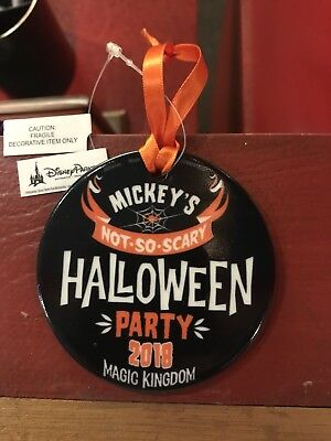 Disney Mickey's Not So Scary Halloween Party 2018 Let's Boo This Ornament NWT
