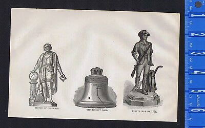 American Icons on Display at 1876 Philadelphia Centennial -1878 Engraving
