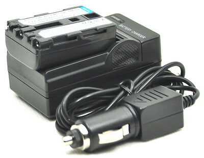 NP-FM71 NP-FM70 NP-FM51 Battery + Charger for DCR-PC103 TRV418E TRV17E NP-QM91D