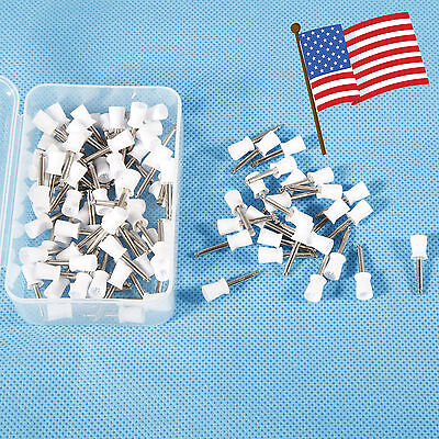 USA 100pcs Dental Polishing Polish Cups Prophy Cup Latch Type Rubber White Teeth