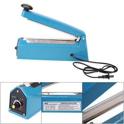 "8"" Heat Sealing Impulse Manual Sealer Machine Poly Tubing Plastic Bag Teflon #w"