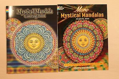 Mystical Mandala & More Mystical Mandalas Coloring Books (New)