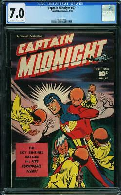 Captain Midnight # 67..CGC Blue slab  7.0 FINE-VF grade--he...1948..3rd highest