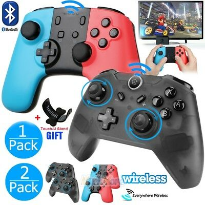 2x Wireless Bluetooth Pro Controller Gamepad Joypad Remote for Nintendo Switch
