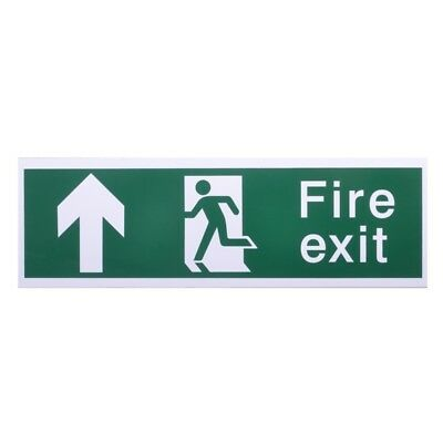 House Nameplate Co Fire Exit With Arrow Forward, Forward Arrow