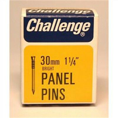 Challenge Panel Pins - Bright Steel (box Pack), 30mm