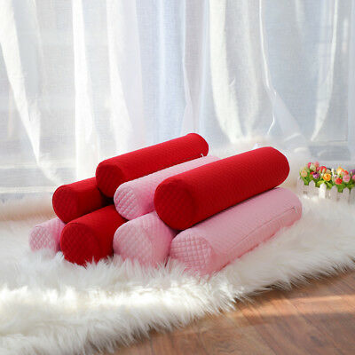 Round Memory Foam Pillow Cervical Roll Bolster Neck Head Waist Support Pillow