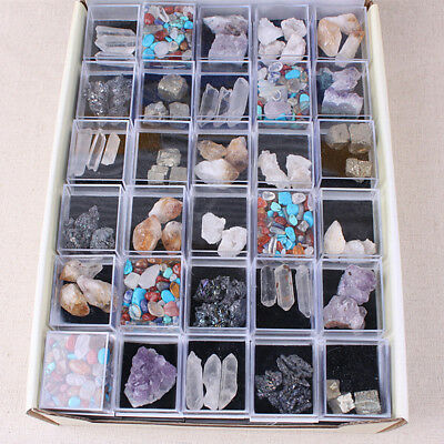 1Box Mixed Natural Rough Stones Raw Rose Quartz Crystal Mineral Rocks Collection