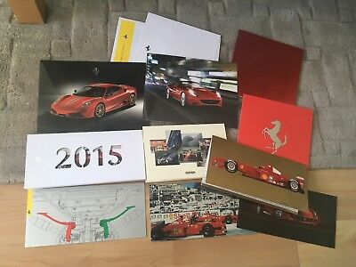 FERRARI   NEW YEAR AND CHRISTMAS CARDS  x 10  1997-2018