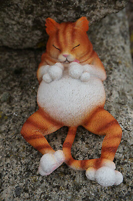 Cat193B  Figurine  Statuette Chat Endormi Garfield  Heroic Fantasy