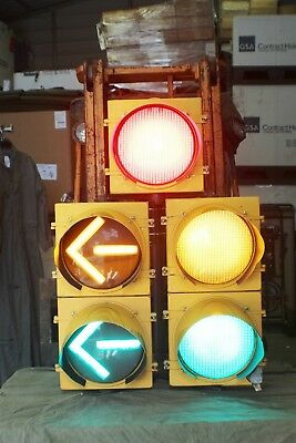 Large 5 Light Led Traffic Signal W/ Controler Plug It In Watch It Work Ec2