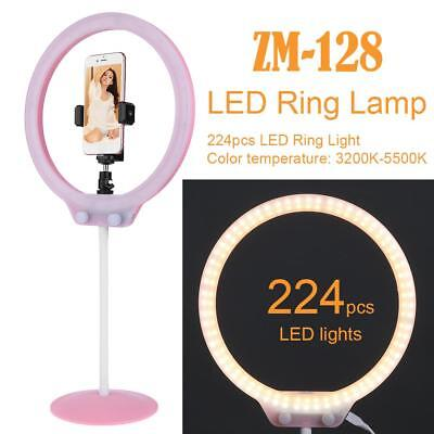 224pcs LED Pink Ring Dimmable 5500K Lighting Video Continuous Light Stand Kit