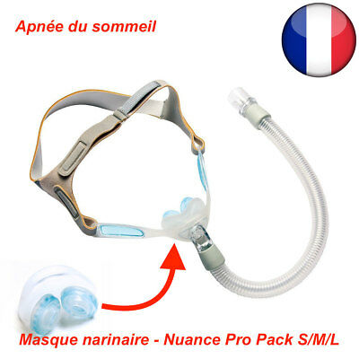 Philips Respironics Nuance Pro gel pillows mask with headgear - Size S/M/L