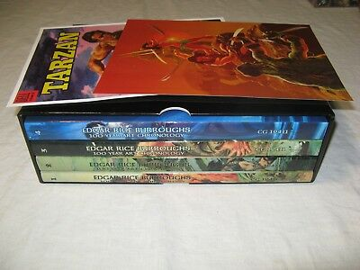 Edgar Rice Burroughs 100 Year Art Chronology set+case,prints Tarzan,John Carter