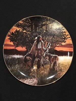 """Bradford Exchange """"THE PATH FINDERS"""" by Craig Tennant The Guiding Spirts plate"""