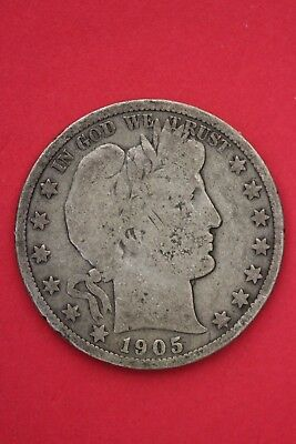 1905 S Barber Liberty Half Dollar Exact Coin Pictured Flat Rate Shipping OCE 024