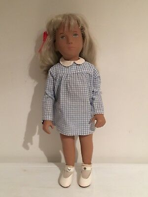 Vintage SASHA Doll Blonde With Gingham Dress Made In England