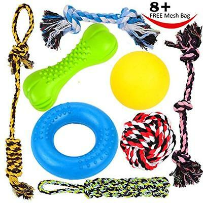Chew Toys 8 Durable Dog Puppy Value Pack Small & Medium Dogs 3 Teething 100%