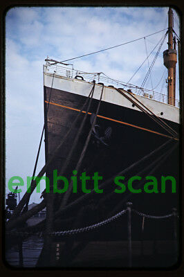 Original Slide, Cunard Line Ocean Liner RMS Georgic at Southampton, 1950s