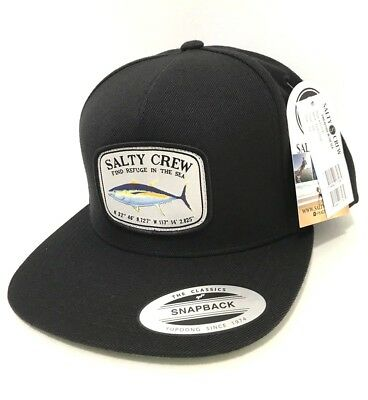 brand new 801a0 a9ae2 NEW SALTY CREW Pacific TRUCKER SNAPBACK Fishing CAP HAT Black Z15