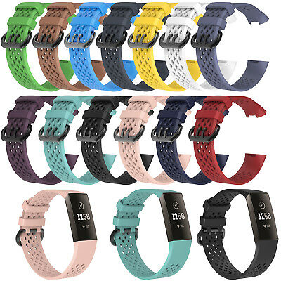 Sports Wrist Band Strap for Fitbit Charge 3 Fitness Activity Tracker Size L/S