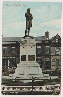 Ayrshire postcard - Burns Statue, Ayr - P/U 1912 (A99)