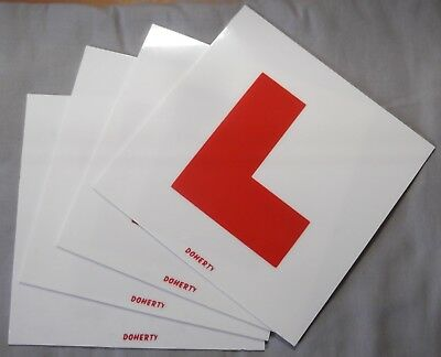 Genuine Doherty Rigid 1.5mm Thick Plastic Learner L-Plate 4-Pack 9447008-1