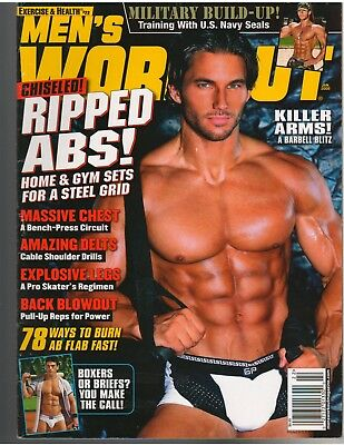 EXERCISE FOR MEN ONLY bodybuilding muscle magazine/ MILITARY FITNESS