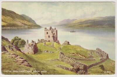 Inverness-shire postcard - Castle Urquhart and Loch Ness by EH Thompson (A749)