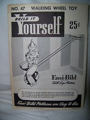 """14 Build it Yourself Unopned Patterns 1940's & 50""""s Toys Bench Doll Carriages +"""