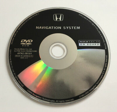 Latest 2012 Honda V2.11 Sat Nav Map Update Disc Europe Navi Dvd