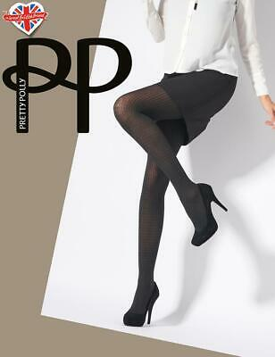Pretty Polly Dogtooth Semi Opaque Tights- Fashion Hosiery To Dress Your Legs